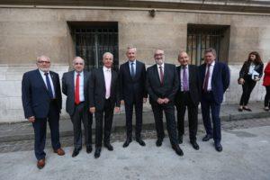 Rencontres de l'U2P 2017 – Bruno Le Maire aux côté du Président, des Vice-Présidents et du Secrétaire Général de l'U2P Crédit Photo Cocktail Santé