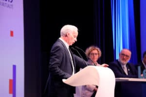 Rencontres de l'U2P 2019 | Alain Griset, le président de l'U2P, s'est exprimé à la tribune en présence de Muriel Pénicaud et des vice-présidents de l'U2P.