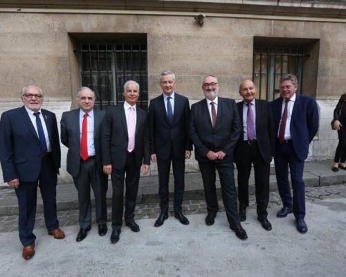 Rencontres de l'U2P 2017 – Bruno Le Maire aux côté du Président, des Vice-Présidents et du Secrétaire Général de l'U2P